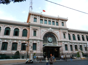 HMC Post office.; Built before the WW2, when Vietnam was still under French rule