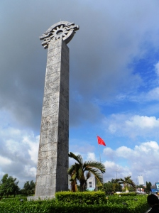 The Obelisk between Vietnam and Cambodia