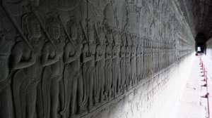 Carved Frescos depicting the life and struggles of the Khmer Kings during the early days