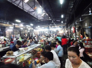 Food area at the Central Market