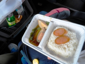 packed lunch provided by the bus