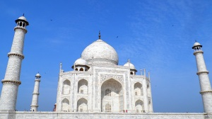 The Majestic Taj at around 9 am. fully kissed by the morning sun
