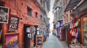Old style Alley in Bhaktapur.