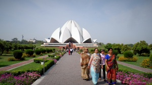 BaLai Temple ( more known as the Lotus Temple) in Delhi. Contrary to the usual notion, This is not a hindu or Buddhist Temple . This is a Church of Balai , a congregation where all other religions are welcome and encouraged to worship under on roof,  promoting unity and  acceptance between people of different backgrounds.