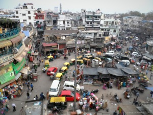A view of Main Bazaar , the backpacker's area in Delhi , where I lived for a few nights.  It is Chaotic in a very interesting way.