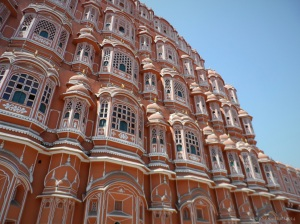 Hawa Mahal Palace in Jaipur. One of the most intricately crafted masonry building Ive seen so far.  Stunning !