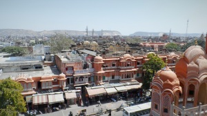 A view of Jaipur City from a tower of Hawa Mahal