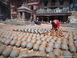 Pottery Square in Bhaktapur
