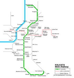 Green line Subway Map of Kolkata , very Helpful