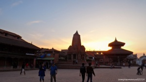 Sunset at Bhaktapur Durbar square