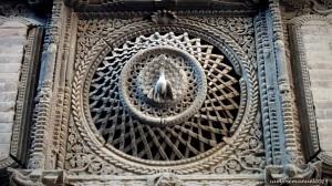 Peacock window detail