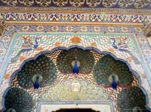 The Noted Peacock entranceway in Jaipur City Palace