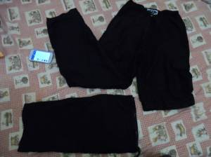 convertible pants to shorts. very ideal to bring, because personally, i only carry clothes good for 10-12 days for  a month journey. Usually, i just wash  the light ones along the way, or just donate or leave them behind, to free up some space for souvenir shirts =)