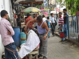 Barber shop along the street
