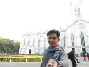 A Catholic Cathedral. a certain percent of the population in Kolkata are Roman Catholics, where Mother Teresa is among the pillars of this area's catholicism.