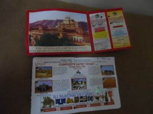 Composite Tickets to the Heritage Sites of Jaipur, which costs around 650 INR ( 12 usd )