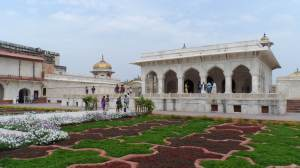 Intricate Gardens of the Red Fort Palace, Agra