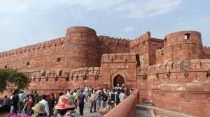 Entrance way to the Red Fort, Agra .