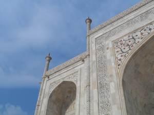 Details of Taj's Hand carved Stone frescos