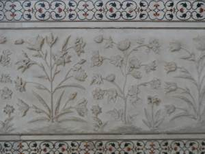 hand carved frescos  on  all sides the monument