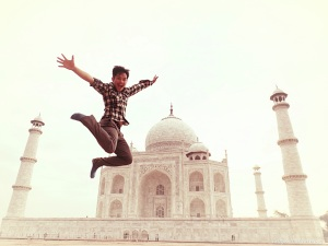 Jump shot at Taj Mahal