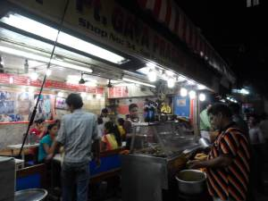 Food stalls along Chandi Chowk Delhi