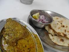 Some lunch - curried Fresh Water Fish and Pita Bread