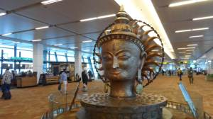 a centerpiece at New Delhi Intl Airport