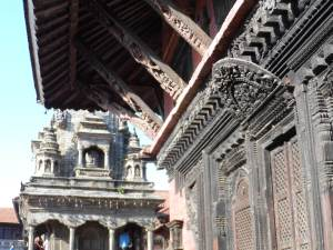 Intricate wood carvings of Homes in Bhaktapur
