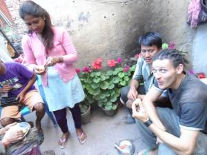 Couchsurfing friends in Nepal.