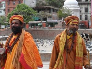 Some men dressed as Sikhs .
