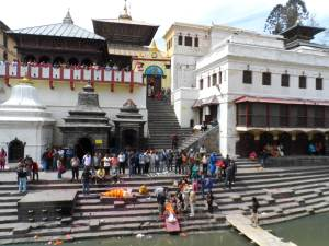Public Cremation at Pashupatinath Temple, A hindu Tradition