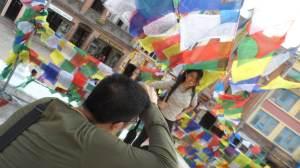 Photoshoot at Boudanath Stupa, downtown Kathmandu