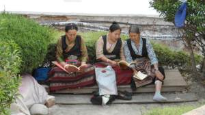 Nepalese Women lounging around