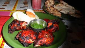 Afgan style bbq chicken . smoked on a traditional clay pot
