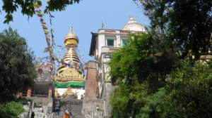 Up the hill of Swayambounath Temple (Monkey Temple )