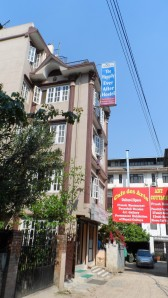 Happily Ever After Hostel where I stayed in Thamel