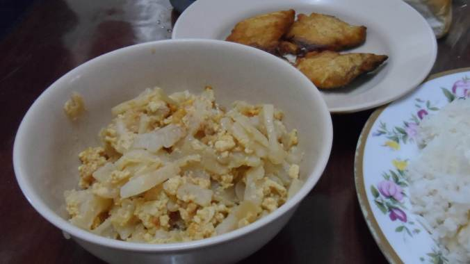 White Ampalaya , Delicious ! This was prepared by my couch surfing host, Maam Leona.