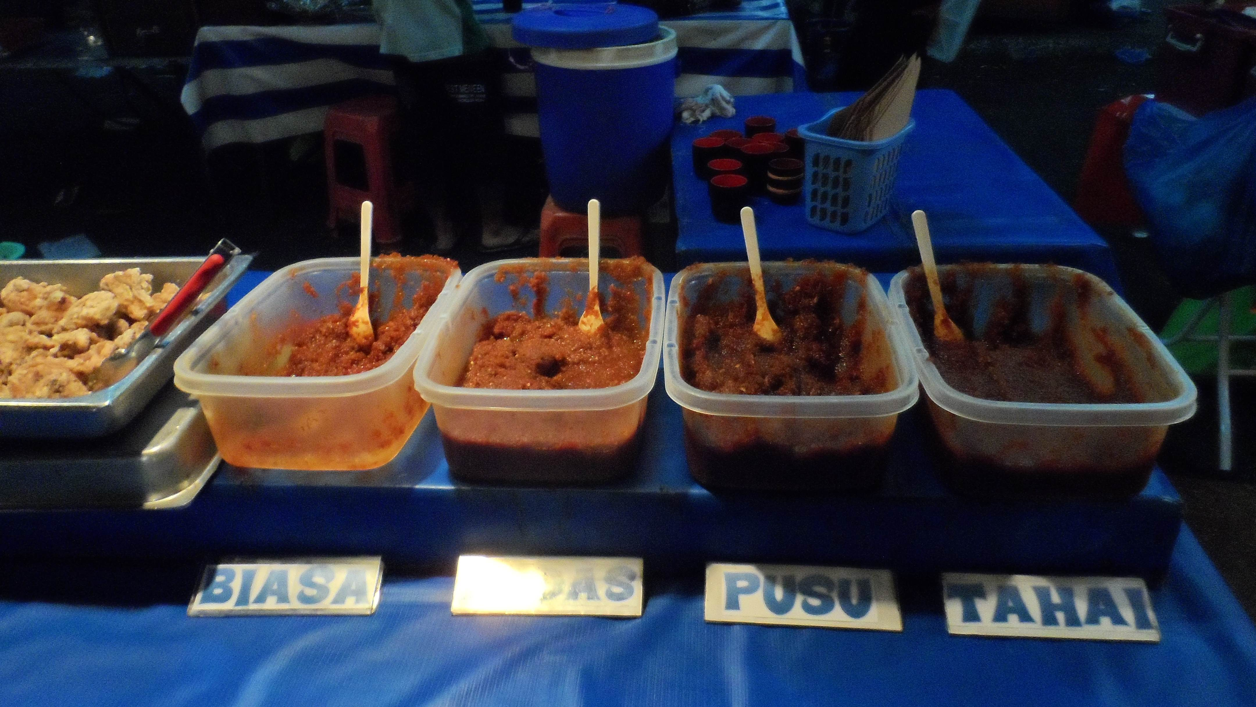 Staple food, Nasi Lemak, which you will also see in Malaysian food ...