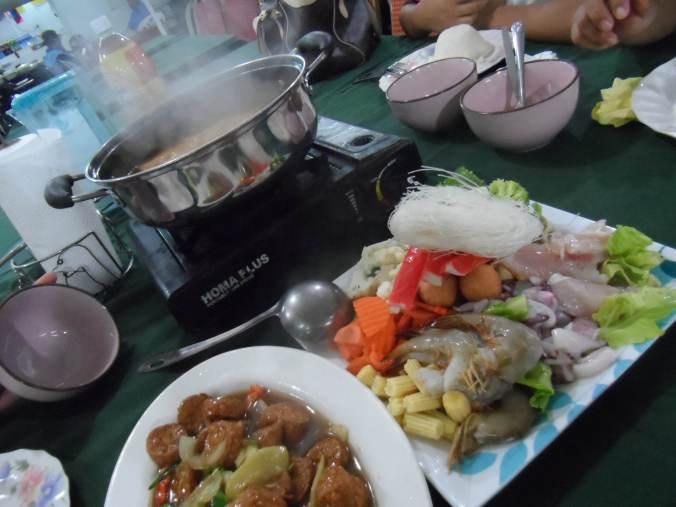 Hot pot. usual sight in Brunei