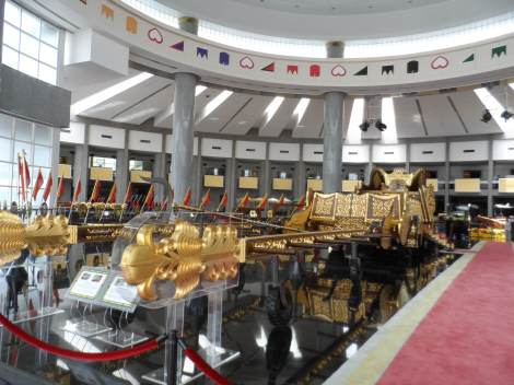 The Royal Regalia Museum, where the Sultan's Collection of gifts from all over the world are displayed.