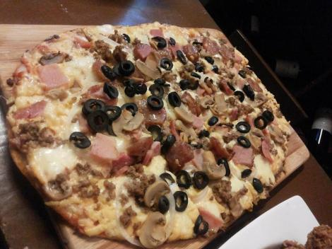 Bu's Meat Overloaded Pizza