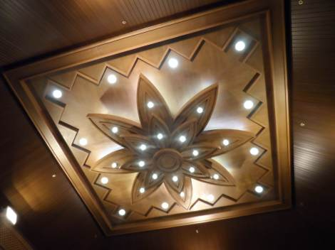 Intricately made wooden ceiling