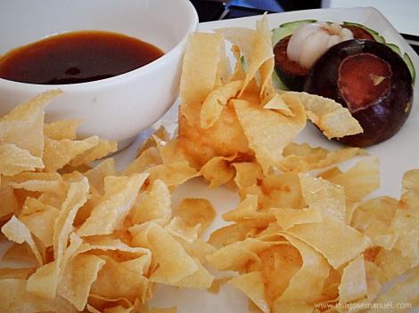 Dragonball X , Shrimp Tempura with Mangusteen filling . Another Interesting Twist in the usual menu at 208 pesos ***