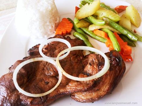 bastis brew grilled pork chop