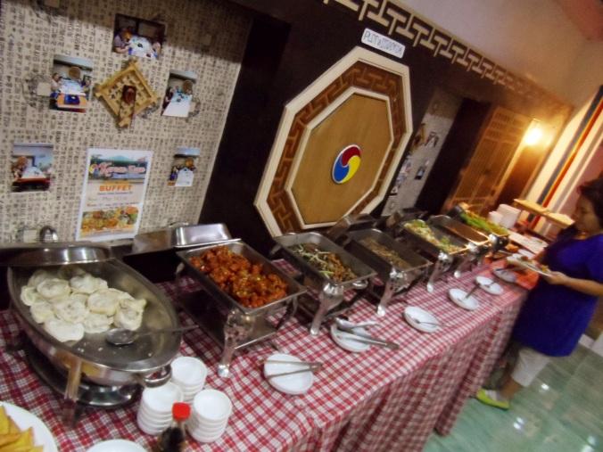 korean town buffet table