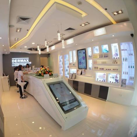 Dermax Laser Center's Sleek Interiors,  located at 3rd Floor, Abreeza Mall, DC. Photo by Dermax Laser Center