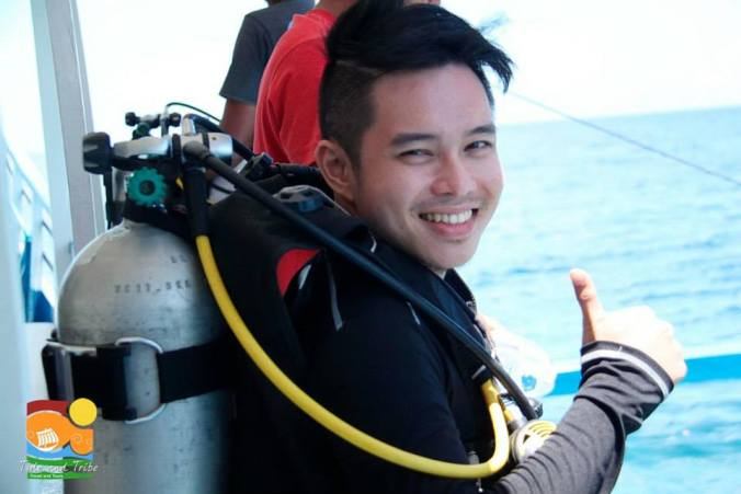 Fake smile. I was actually nervous to take the plunge! (Please don't judge me. haha)