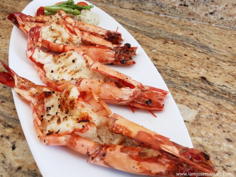 Grilled Tiger King Prawns