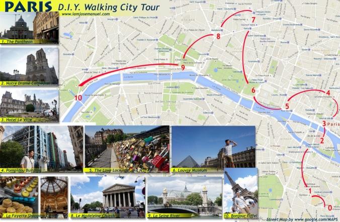 PARIS CITY TOUR BY IAMJOSEMANUEL